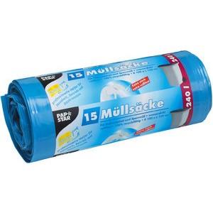 Müllsack, LDPE, 0,043 mm, 240 l, 125 x 100 cm, blau