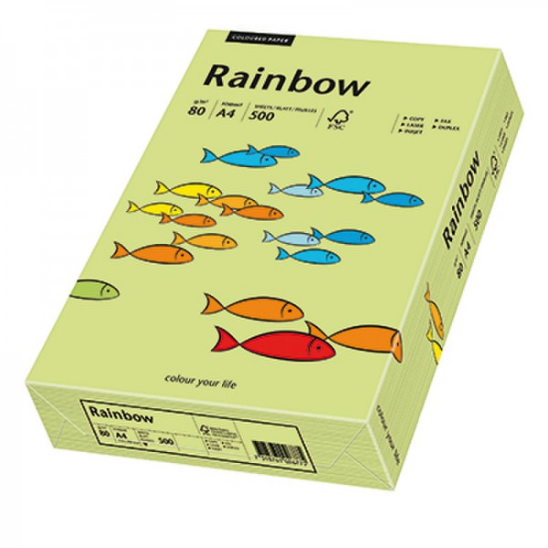 Rainbow Kopierpapier 88042607 A4 80g leuchtgrün 500 Bl./Pack.
