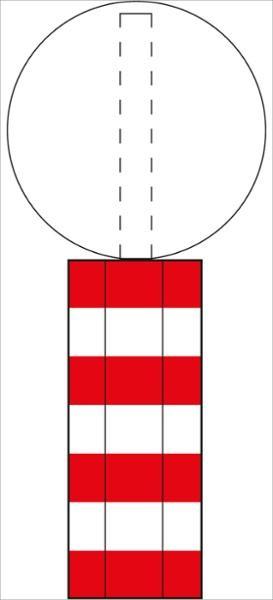 Sonderleitbake für Inseln gekantet | flaches Verkehrszeichen