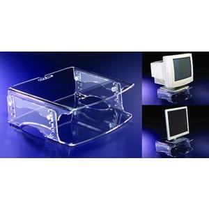 Monitorständer Q-riser 140, Platte: 37x30cm, Tragf.: 50kg, fl, tr