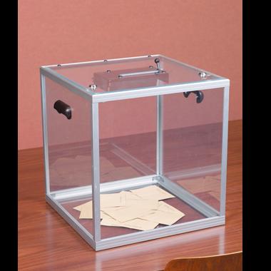 Wahlurne durchsichtig