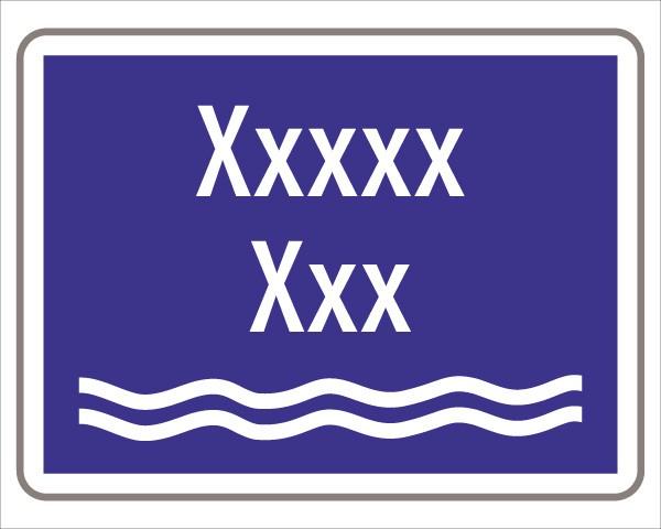 Hinweis auf Gewässer