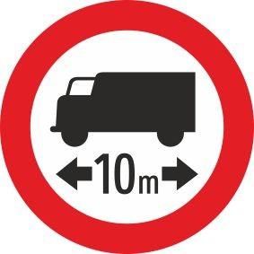 §52/7a Fahrverbot für Lastkraftfahrzeuge mit Längenangabe | Alform Verkehrszeichen