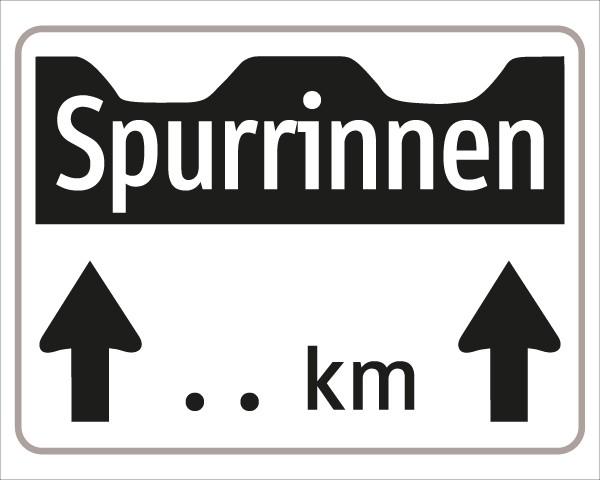 §54/5 Z.T. Spurrinnen + Pfeile mit km-Angabe