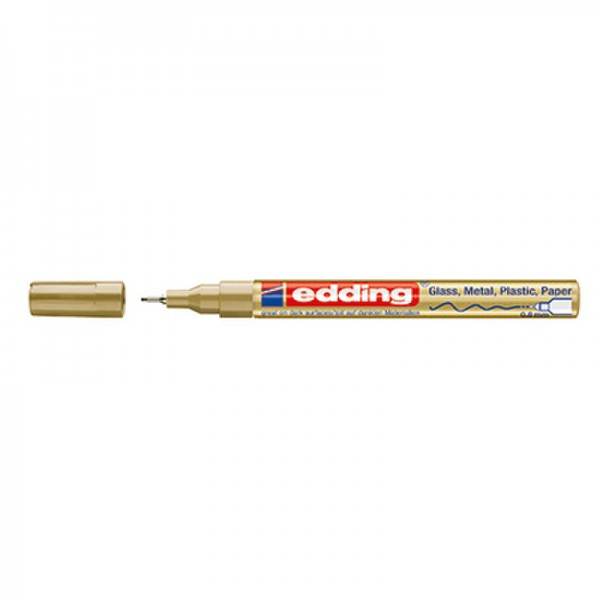 edding Lackmarker 780 4-780053 0,8mm Rundspitze permanent gold