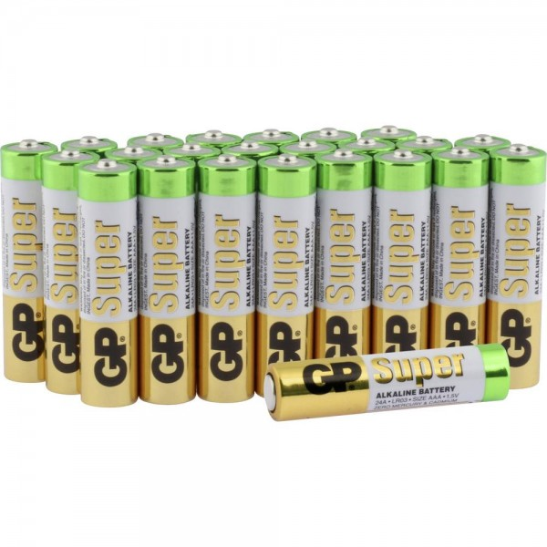 GP Batteries Super Micro (AAA)-Batterie Alkali-Mangan 1.5 V 24 St.