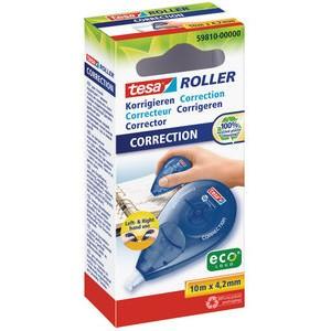 Korrekturroller ecoLogo®, Einw., 4,2mmx10m, weiß, blau, tr