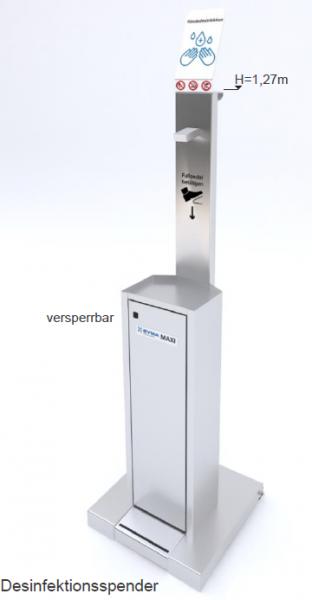 """SYMA Desinfektionsspender """"Maxi"""" - mit integriertem 5L-Tank und elektronischer Pumpe"""