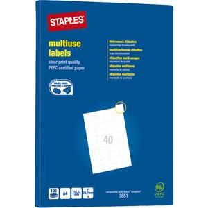 Etikett, I/L/K, A4-Bg., sk, Pap., 52,5x29,7mm, weiß