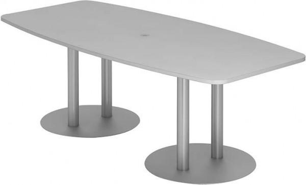 Konferenztisch 220x103/83Grau/Silber