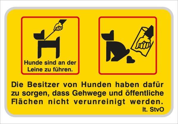 Die Besitzer von Hunden haben dafür .... | flaches Verkehrszeichen