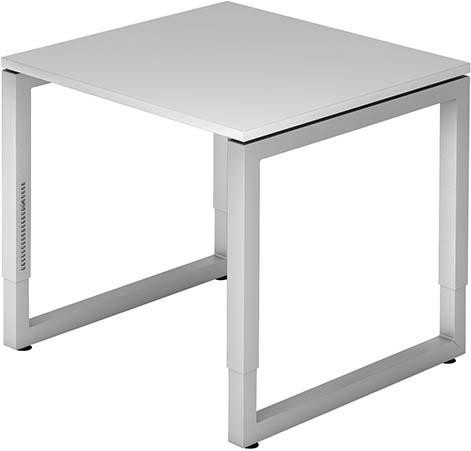 Schreibtisch R-Serie 80x80 grau