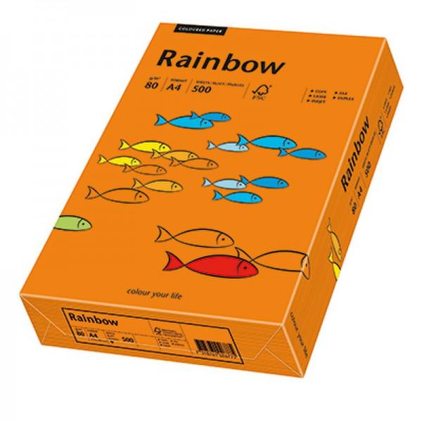 Rainbow Kopierpapier 88042453 A4 80g intensivorange 500 Bl./Pack.