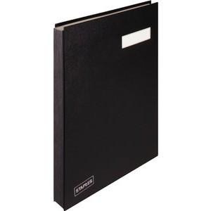 Unterschriftsmappe, Kst., A4, 20 Fächer, schwarz