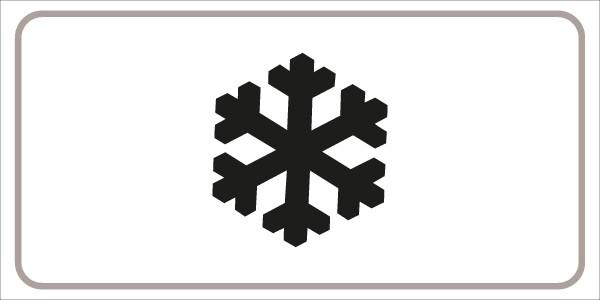 §54/5 Zusatztafel mit Symbol: Schneefall