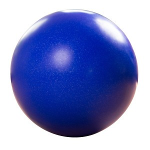 Balance-Kugel / Laufkugel ø ca. 70 cm, 15 kg,Dunkelblau mit Silber-Flitter