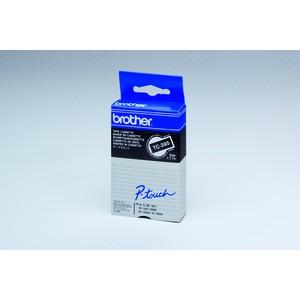 Schriftbandkassette TC, 9mmx7,7m, weiß auf schwarz