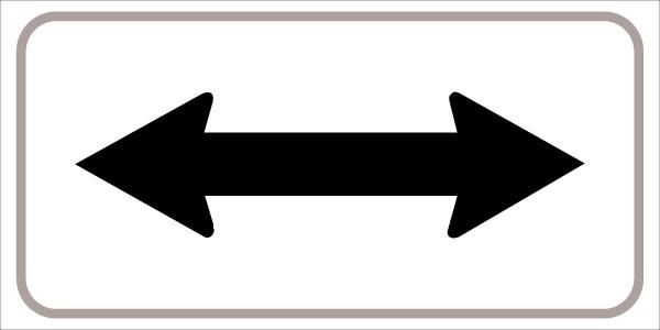 §54/5 mit Pfeil beidseitig | flaches Verkehrszeichen