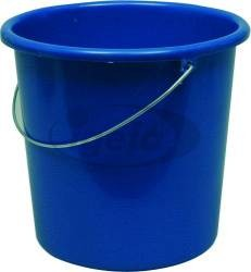 Plastikeimer rund 5l blau (10)