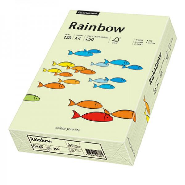 Rainbow Kopierpapier 88042590 A4 120g hellgrün 250 Bl./Pack.