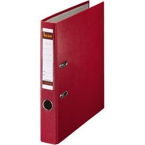 Ordner No.1, PP-kaschiert, Einsteckrückenschild, A4, 52 mm, rot