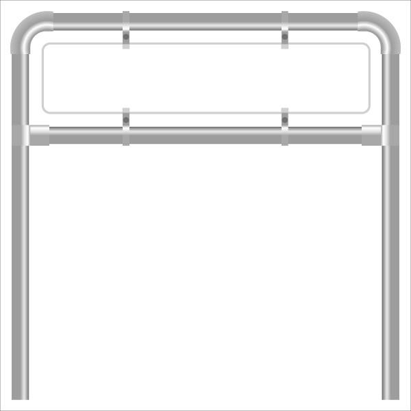 Rohrrahmen G10. 1460x500 mm