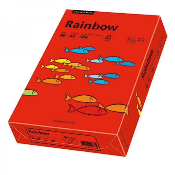 Rainbow Kopierpapier 88042475 A4 80g intensivrot 500 Bl./Pack.