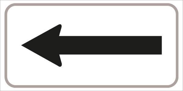 §54/5 mit Pfeil einseitig | flaches Verkehrszeichen