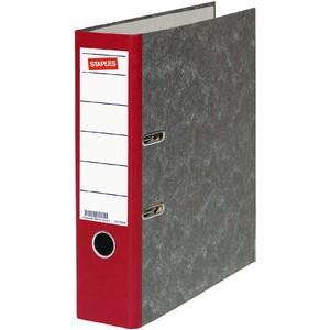 Ordner, Wolkenmarmorpapier (RC), SK-Rückenschild, A4, 80mm, rot