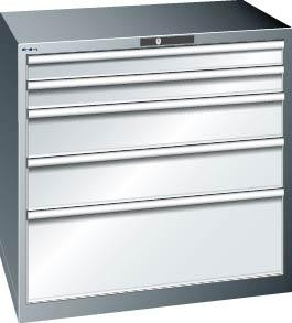 Schubladenschrank grau H1000, 5 Schubl. 79.392.020