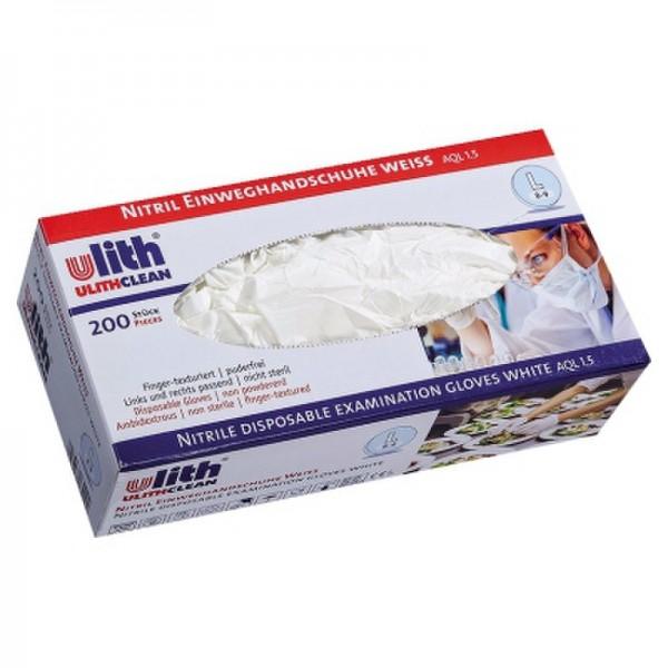 Einweghandschuh 816.422 L Nitril weiß 200 St./Pack.