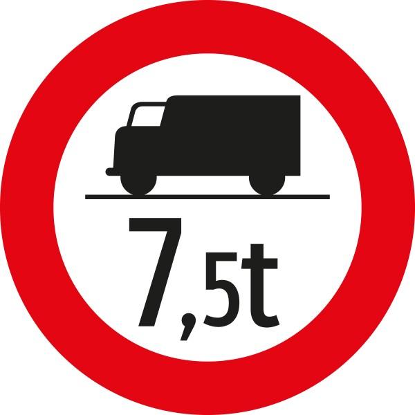 §52/7a Fahrverbot für LKW mit ...t Gewichtsangabe