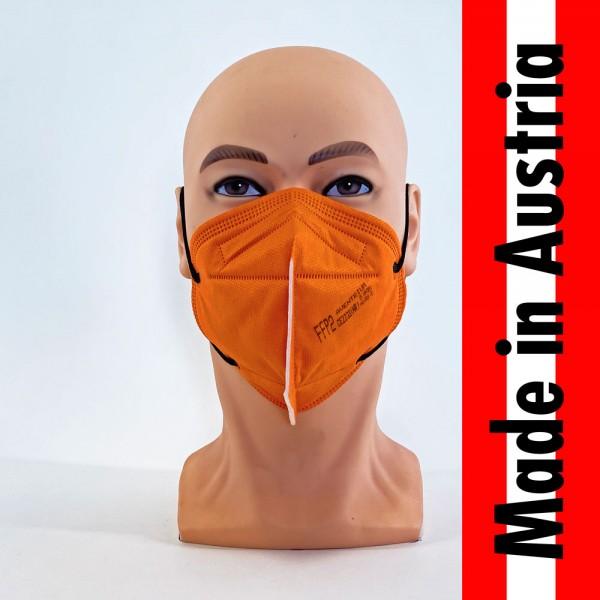 """""""Made in Austria"""" Schutzmaske Aventrium FFP2 NR orange in Einzelverpackung - Civil Use"""