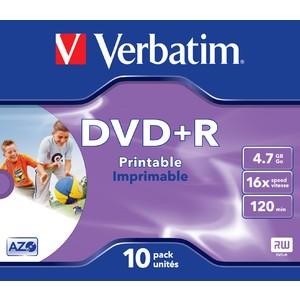 DVD+R, full printable, Jewelc., 4,7GB, 16x