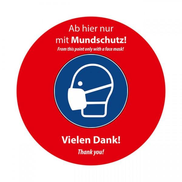 """Easy Dot Fensterfolie """"Mundschutz tragen"""""""