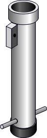 Bodenhülse für Schnellverriegelung für Rohr dm 60mm, Länge 400mm