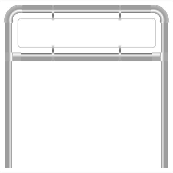 Rohrrahmen G18. 2200x400 mm