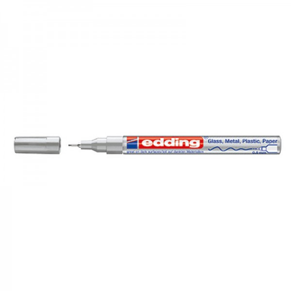 edding Lackmarker 780 4-780054 0,8mm Rundspitze permanent silber