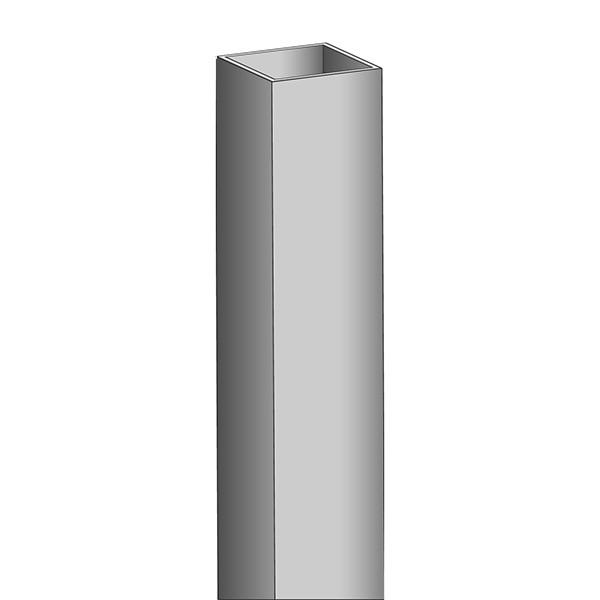 Aluminiumformrohr 40x40x2mm. 3m
