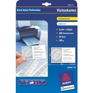 Visitenkarte, I/L/K, 185g/m², 85x54mm, weiß, matt