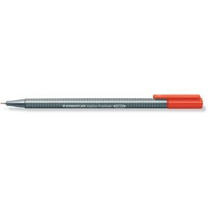 Fineliner, triplus®, mit Kappe, 0,3 mm, Schreibf.: rot