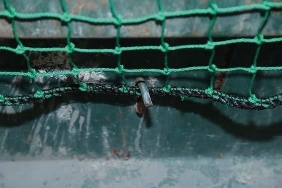 Gummiseil m. Drahthaken f. Netz 4x3, 15 m lang