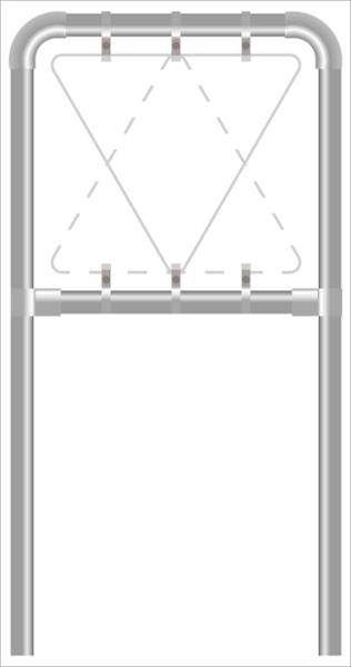 Rohrrahmen A2. S. 1000 mm