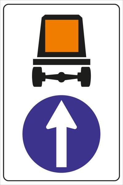 §52/15a*b Vorgeschriebene Fahrtrichung für Fahrzeuge mit gefährlichen Gütern