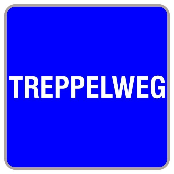Treppelweg | flaches Verkehrszeichen