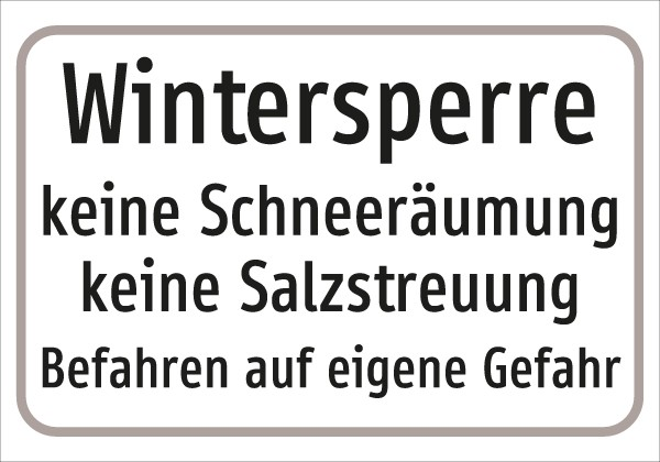 §54/5 Z.T. Text: Wintersperre .....