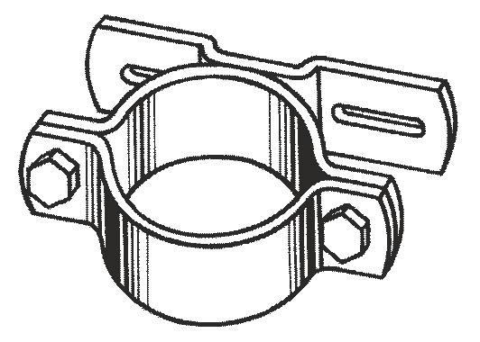 Einseitige Stahllasche Type F1