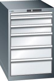 Schubladenschrank grau H850,6 Schubl. 14.407.020