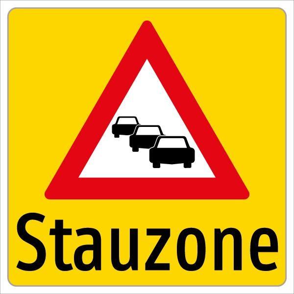 Stauzonentafel | flaches Verkehrszeichen