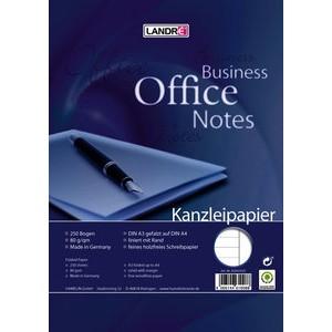 Kanzleipapier OFFICE, liniert mit Rand, A3 gef. auf A4, 80g/m², weiß